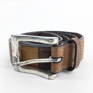 FOSSIL Vintage Genuine Leather Patchwork Belt Med